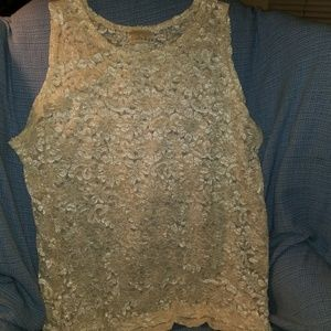 Tops - Solange ivory lace top